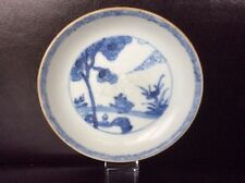 Chinese 'Ca Mau' Porcelain Saucer with 'Country Scene & Puppy', c1725