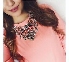 Zara Flowers Birds And Pineapple Necklace