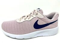 Nike Tanjun (GS) Girl Youth Size 4y 6y Running Shoes 818384 600 Barely Rose Navy