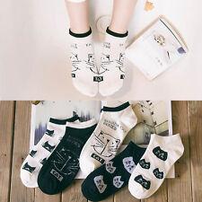 Fashion Womens Cat Sport Casual Cute Cat Ankle High Low Cut Cotton Soft Socks