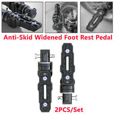 2PCS UNIVERSAL Rear Anti-Skid Widened Foot Rest Pedal For Motorbike  Motorcycle