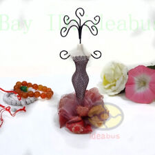 BURGUNDY Mannequin Dress Earring Necklace Ring Jewelry Holder Stand Display