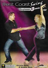 West Coast Swing Beginner 3 Pack (DVD, 2013, 3-Disc Pack)