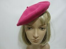 Vintage BERET Raspberry Basque Lord & Taylor NY France French Fashion