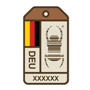 TB Travelbug® DEUTSCHLAND GERMANY Dog Tag Geocaching Groundspeak ***NEU***
