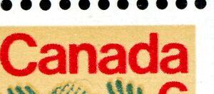 Weeda Canada 539i VF MNH UR corner block, Shadow ghost doubling of red CV $40