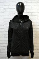 Felpa Donna Puma Maglione Taglia 42 Cardigan Pullover Sweater Woman Cotone Nero