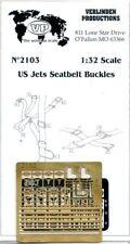 Verlinden 1:32 US Jets Seatbelt Buckles PE Detail #2103