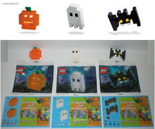 RARE 3 LEGO Exclusive Halloween Sets Lot 40012 Pumpkin 40013 Ghost & 40014 Bat
