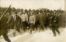 WWI ERA FRENCH PRISONERS OF WAR IN GERMAN CUSTODY ORIGINAL REAL PHOTO POSTCARD