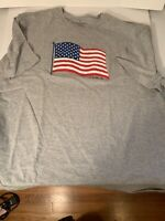 Faded Glory USA FLAG all American Sports Athletic  Short Sleeve T Shirt XXL