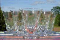 Vallerysthal - Service de 6 verres à eau en verre taillé.