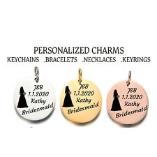 Bridesmaid. Charm Personalized Charm Custom Charms for Necklace&Bracelet