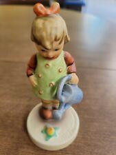 "Hummel Vintage Figurine - 4"" Girl with watering can #74 ""Little Gardener"""