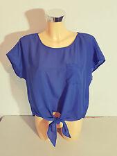 QS  S. OLIVER  Damen  Bluse Tunika  Gr. 36  ärmellos  Sommer blau  NEU