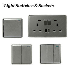 Textured Chrome Light Switches and Electrical Socket with/without USB