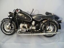 1965 BMW POLICE SIDECAR MODEL 60/2 METAL MODEL MOTORCYCLE TINPLATE COLLECTIBLE