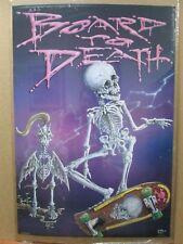 Board to death Vintage 1987 Skate Board skateboarding Skate Inv#G1614