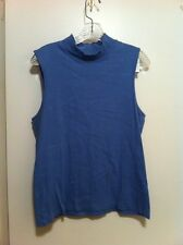 Christopher & Banks Woman's Sleeveless Shirt Xl Blue