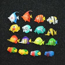 10pcs Simulation Fish Plastic Fish Aquarium Decor Safety Home Office Ornament