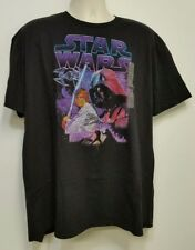 NEW Star Wars Luke Skywalker & Darth Vader X-Wing Black T-Shirt - XXL 2XL