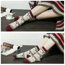 3 Pairs Lot Women Soft Warm Winter Cotton Casual Socks Dress #K Vintage One Size