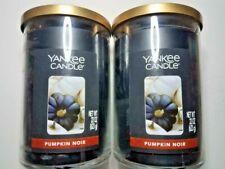 2 X YANKEE CANDLE PUMPKIN NOIR 2 WICK 22 OZ CANDLES 2 LG  CANDLES