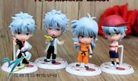 GINTAMA figures figure PVC doll Action Figure set of 4pcs dolls animation
