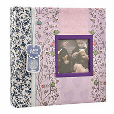 "6""x4"" Designer Photo Album with Window and 200 Slip In Memo Pockets AL-9769"