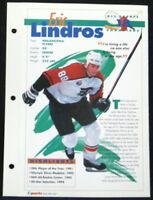 1994 Eric Lindros Philadelphia Flyers Heroes Feats & Facts All Sports Champions