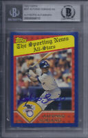Alfonso Soriano Signed 2003 Topps - Beckett BAS