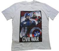 Marvel Men's Captain America Iorn Man Civil War Short Sleeve Cotton T-Shirt