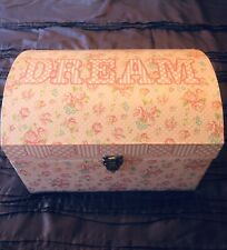 Set Of 2 Tri Coastal Trunks! Nesting! Baby Girl In Pink! Dream And Love!
