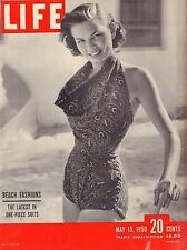 Life Magazine May 15 1950 Birthday, Beach Fashion VG 042216DBE