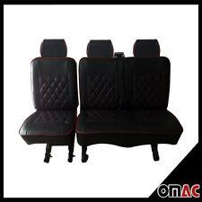 DIMOND Schonbezüge Kunstleder Sitzbezug Sitzbezüge Schwarz Rot VW T5 T6 2+1