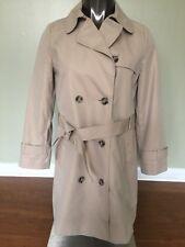 EUC Ann Taylor Loft Women Classic Trench Coat Jacket Khaki Size Petite 6P