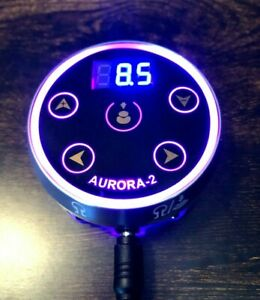 Aurora II Tattoo Machine Dual Power Supply - Colored Lights