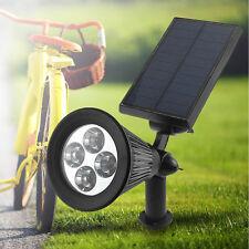 4LED Solar Power Garden Lamp Spot Light Outdoor Lawn Landscape Path Spotlight