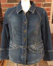 MOTTO Your Style Mantra Denim Jean Jacket Size Medium QVC