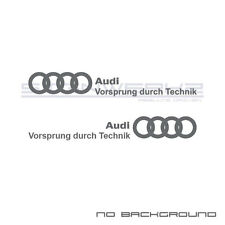 Audi Vorsprung Durch Technik Decal Sticker A4 S4 S3 S5 A5 A6 R8 mirrored Pair