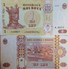 MOLDOVA 2010 1 LEU UNCIRCULATED BANKNOTE P-8 PRINCE STEPHEN III FROM USA SELLER