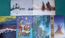 """""""wintercount"""" Nativo Americano artistas X-Mas Tarjeta Set #5"""