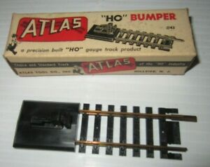 ATLAS HO SCALE SNAP-TRACK BUMPER #43 W/ VINTAGE BOX