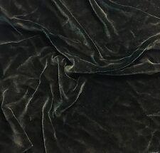 "Hand Painted Silk Velvet Fabric - Antique Gold on Dark Green Fat 1/4 18""x22"""