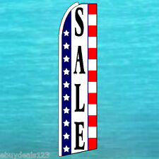 SALE USA FLUTTER FLAG Tall Curved Top Advertising Sign Feather Swooper Banner