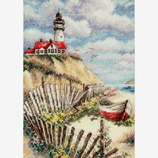 Dimensions Gold Collection Petites Counted Cross Stitch Kit Cliffside Beacon 5X7