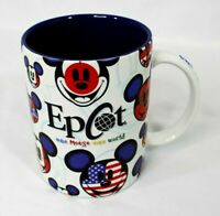 Epcot Mickey Mouse International -Flags Mickey Face Oversized Coffee/Mug Cup