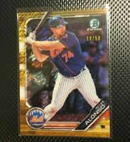 Bowman 2019 Peter Alonso Gold Shimmer Refractor Rookie Rc # /50 Rookie of Year