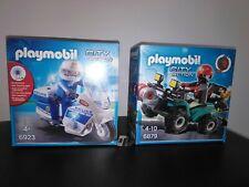 Playmobil 6923 et 6879 Moto de police et Quad Boites neuves scellées
