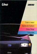 Fiat Uno range including Turbo i.e. and Racing original COLOUR RANGE 1992